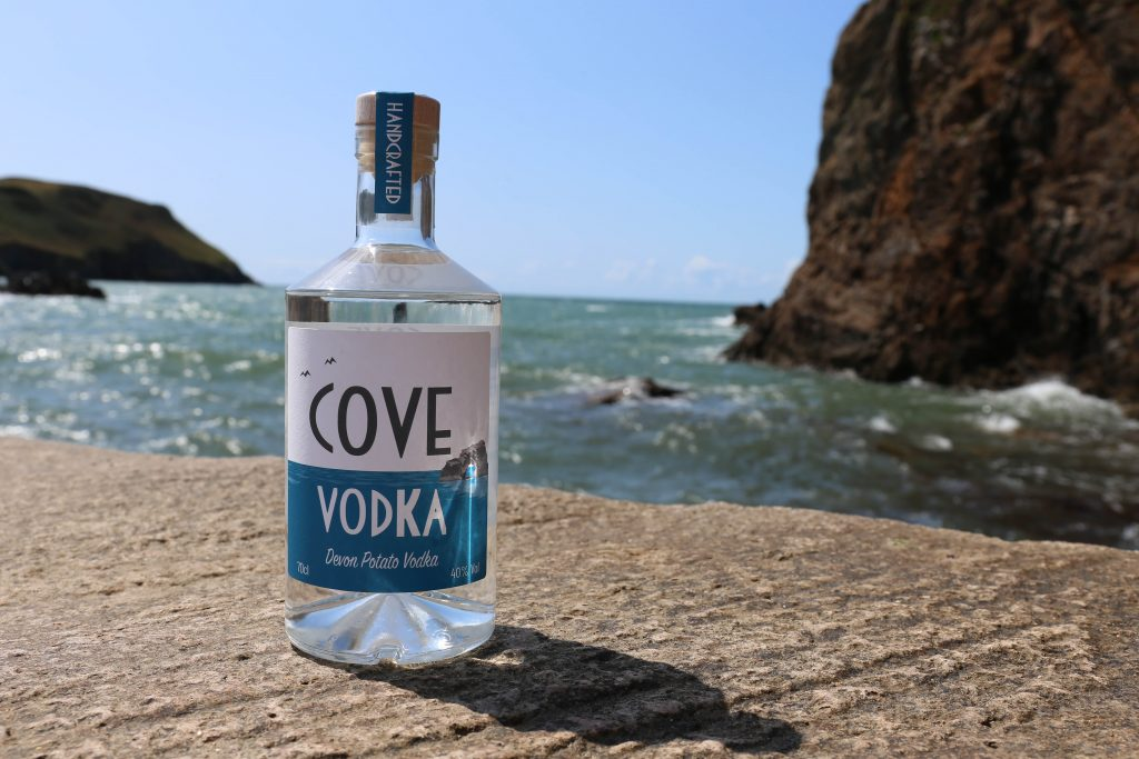 Cove Vodka on Breakwater in Hope Cove, Devon