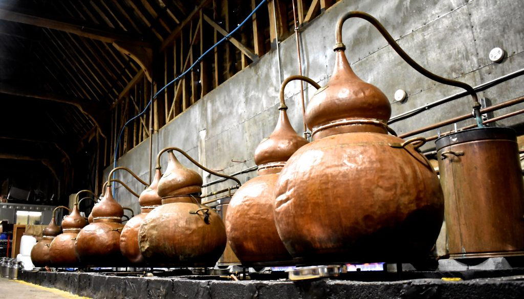 Copper Stills at the Distillery