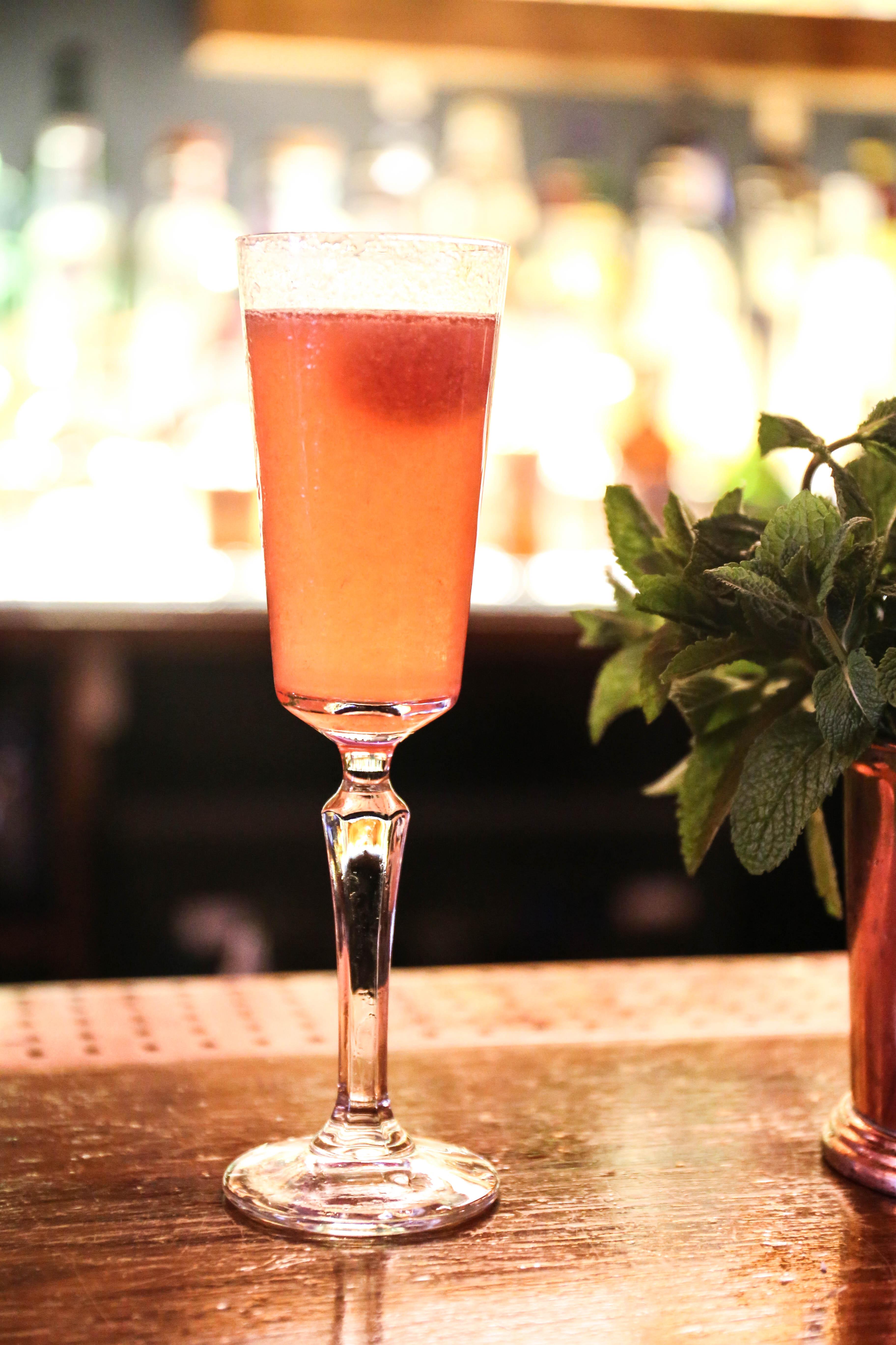 Raspberry Bellini Cove Vodka Cocktail
