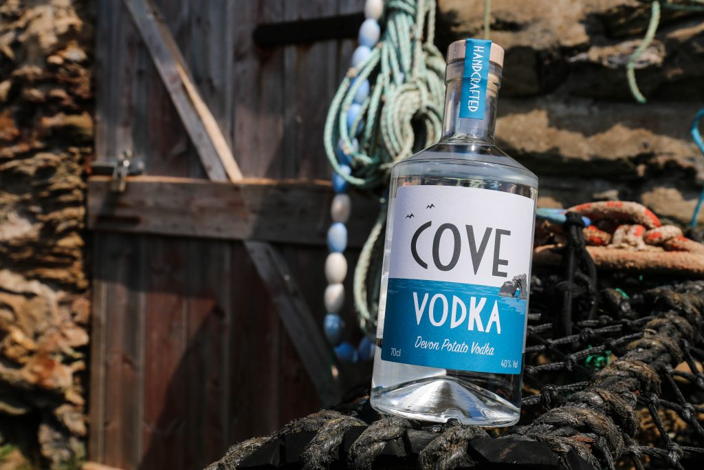 Cove Vodka by the sea in Hope Cove, Devon