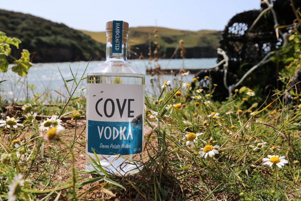 Cove Vodka and daisies in Hope Cove, Devon