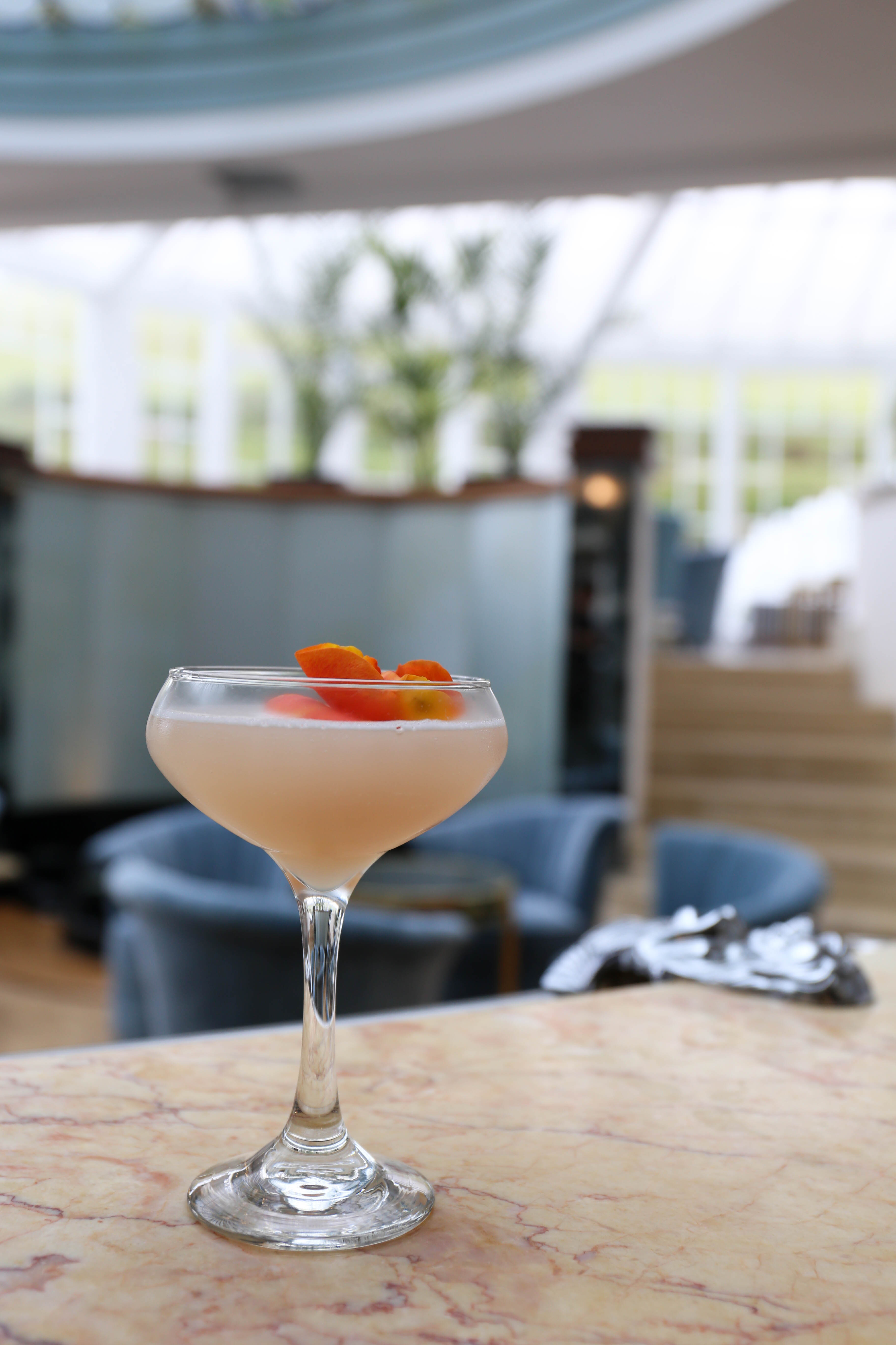 Lychee Blush Cove Vodka Cocktail at Burgh Island