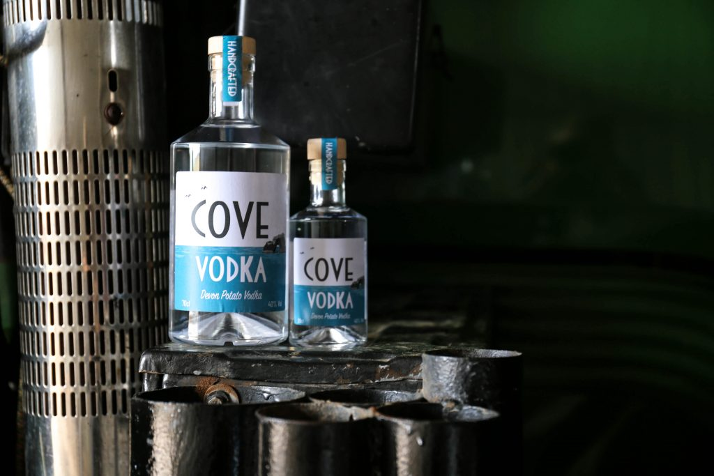 Cove Vodka on John Deere Tractor
