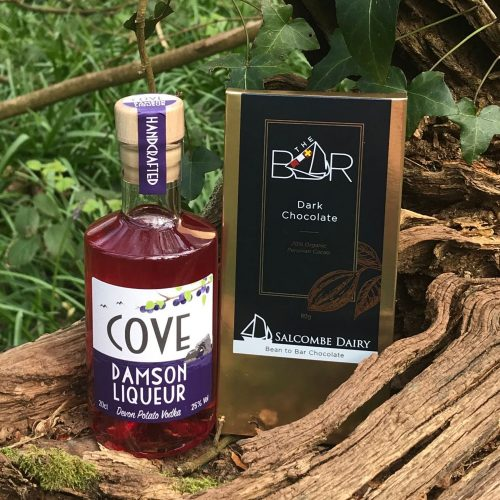 Cove Damson Vodka Liqueur Gift Set and Salcombe Dairy Chocolate Gift Set