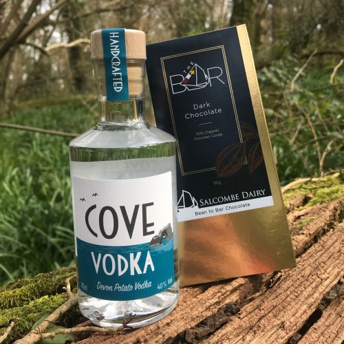 Devon Potato Vodka and Salcombe Dairy Chocolate Gift Set
