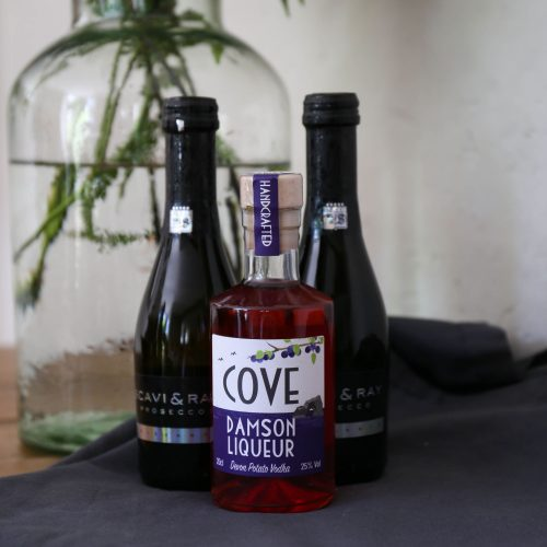 Cove Damson Liqueur and Prosecco