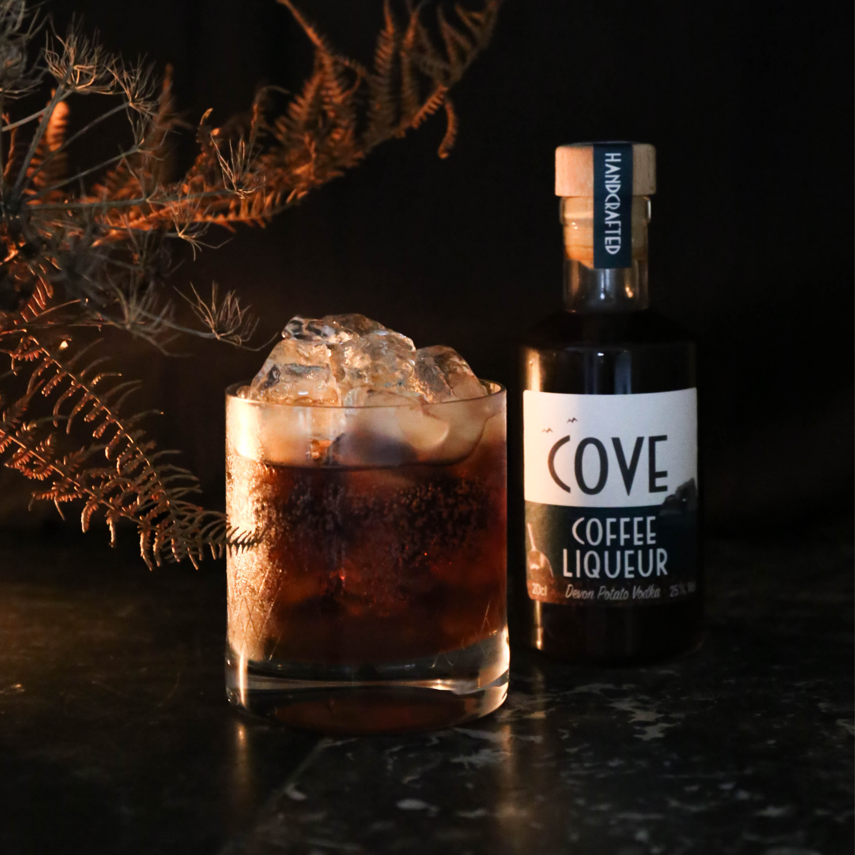 Coffee liqueur and White Russian