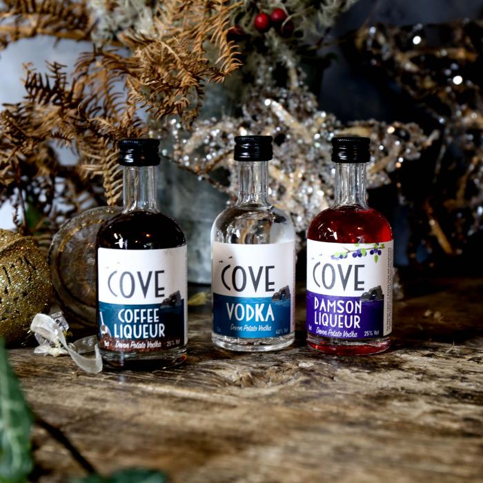 Cove Vodka and Liqueur miniatures