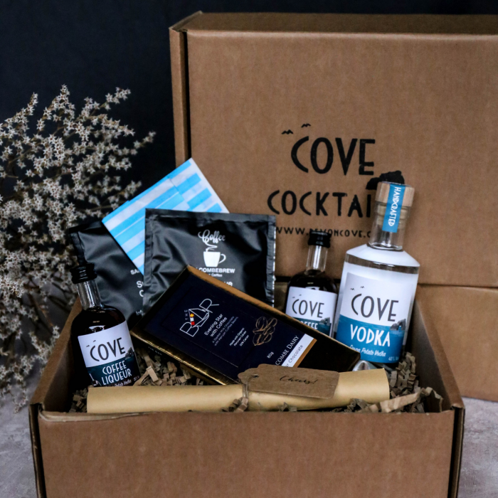 Espresso Martini Cocktail Kit and Salcombe Chocolate Gift Box