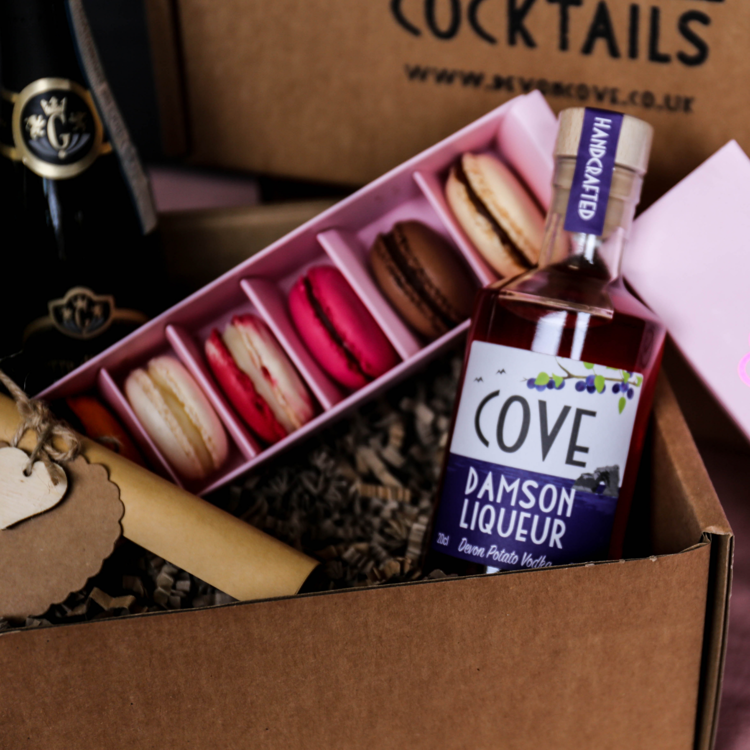 Mother's Day Cocktail and Macaroon Gift Box