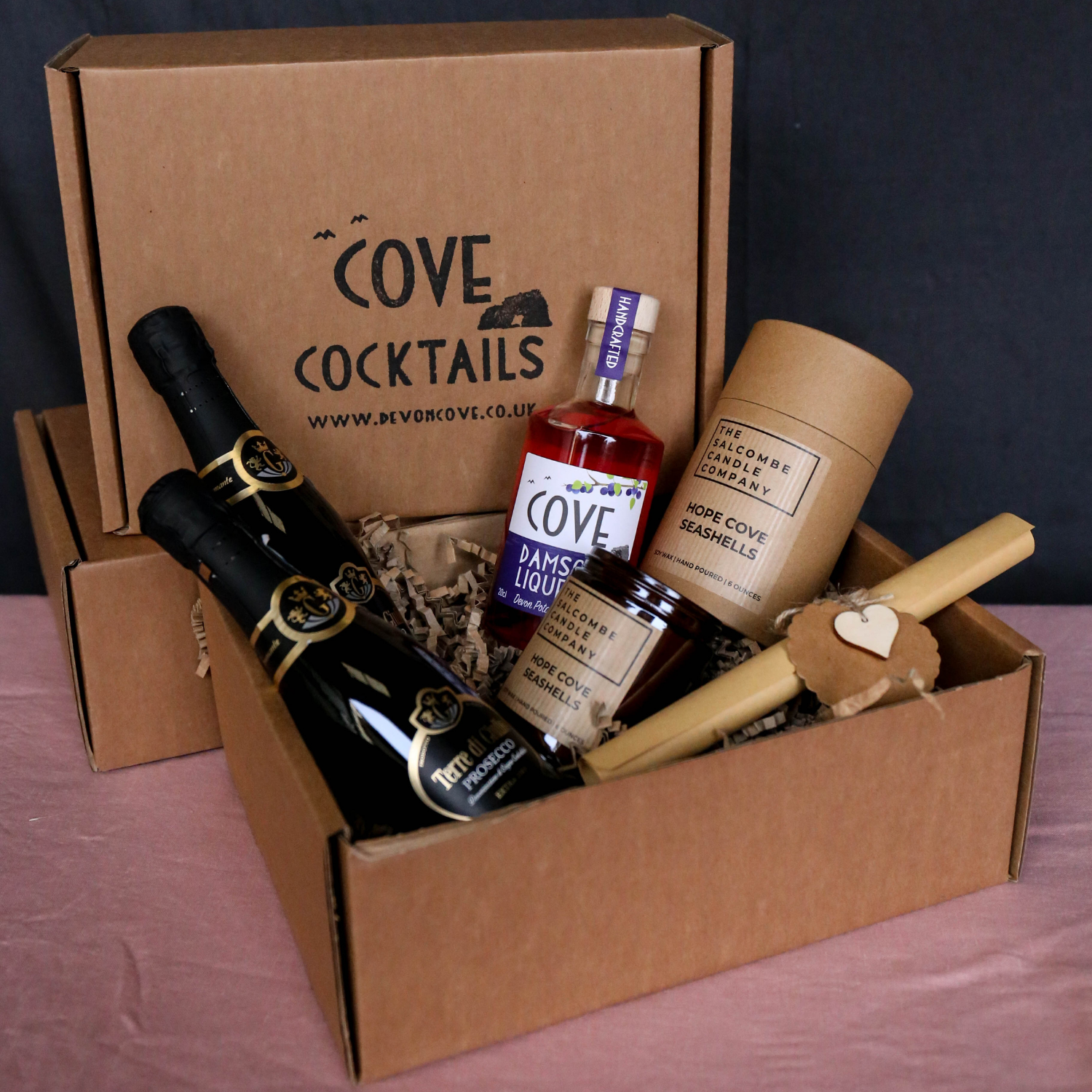 Hope cove candle and prosecco cocktail kit