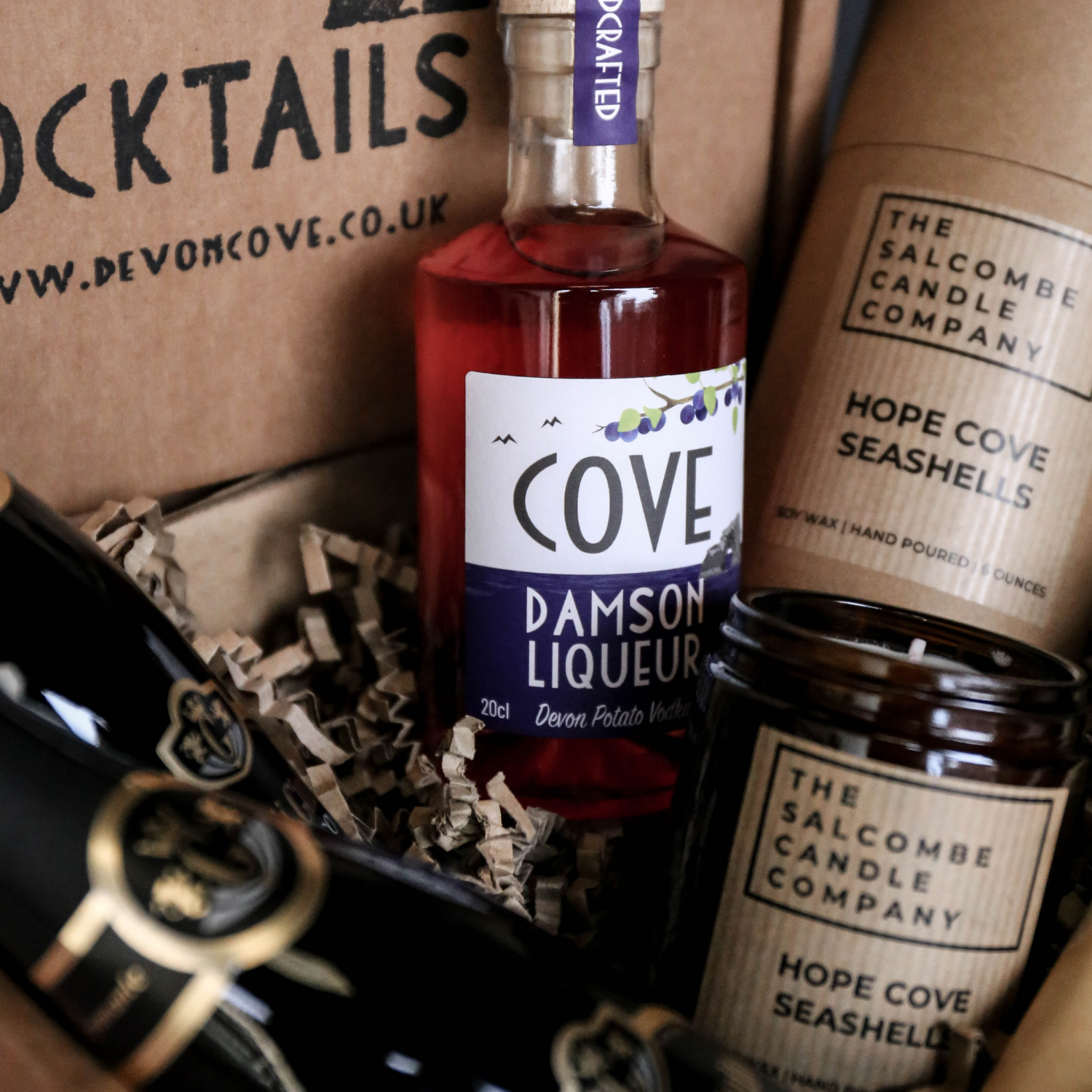 Hope Cove Candle and Devon Cove Royale Cocktail Kit
